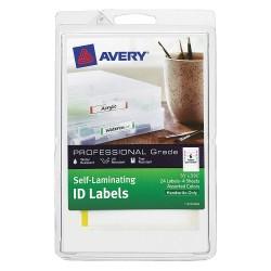 Avery Dennison - 00748 - Laser/Inkjet Label, Multicolor Border, PK4