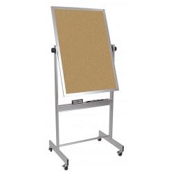 Balt / MooreCo - 668AC-DC - White Porcelain/Cork Dry Erase Board, Aluminum Frame Material, 30 Width, 40 Height