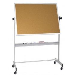 Balt / MooreCo - 668AF-DC - White Porcelain/Cork Dry Erase Board, Aluminum Frame Material, 60 Width, 48 Height