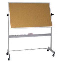 Balt / MooreCo - 668AG-DC - White Porcelain/Cork Dry Erase Board, Aluminum Frame Material, 72 Width, 48 Height