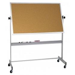 Balt / MooreCo - 668AH-DC - White Porcelain/Cork Dry Erase Board, Aluminum Frame Material, 96 Width, 48 Height