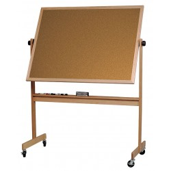 Balt / MooreCo - 668WF-DC - White Porcelain/Cork Dry Erase Board, Wood Frame Material, 60 Width, 48 Height