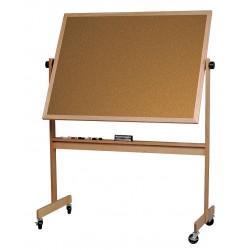 Balt / MooreCo - 668WG-DC - White Porcelain/Cork Dry Erase Board, Wood Frame Material, 72 Width, 48 Height