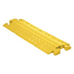 Checkers Industrial - CP1X125-GP-Y - Split Top 1-Channel Cable Protector, Yellow, 36