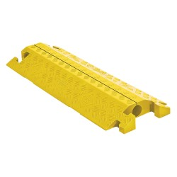 Checkers Industrial - CP1X225-GP-Y - Split Top 1-Channel Cable Protector, Yellow, 36