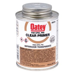 Oatey - 30751 - PVC Primer, Clear, 8 oz., for PVC Pipe And Fittings