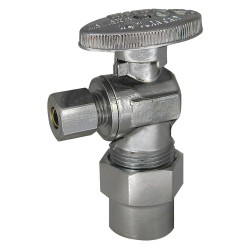 Kissler - 88-9385 - Chrome Angle Supply Stop, CPVC Inlet Type, 250 psi