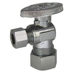 Kissler - 88-9215 - Chrome Angle Supply Stop, Compression Inlet Type, 250 psi