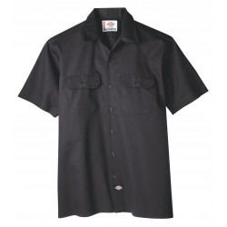 Dickies - 1574BK-S - Short Sleeve Work Shirt, Twill, Black, S