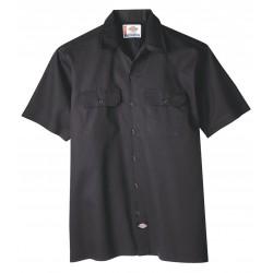 Dickies - 1574BK-3XL - Short Sleeve Work Shirt, Twill, Black, 3X