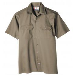 Dickies - 1574KH-5XL - Short Sleeve Work Shirt, Twill, Khaki, 5X