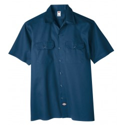 Dickies - 1574NV-2XL - Short Sleeve Work Shirt, Twill, Navy, 2X
