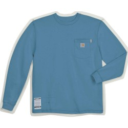 Carhartt - 100235-465 REG SML - Medium Blue Flame-Resistant Crewneck Shirt, Size: S, Fits Chest Size: 34 to 36, 8.9 cal./cm2 ATPV