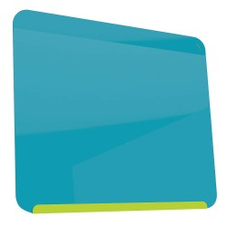 Ghent - LWB2430GB - Gloss-Finish Steel Dry Erase Board, Wall Mounted, 24-3/8H x 30W, Blue