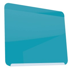 Ghent - LWB2430BB - Gloss-Finish Steel Dry Erase Board, Wall Mounted, 24-3/8H x 30W, Blue