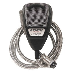 Astatic - 302-10001SE - CB Mic with SS Cord, Silver Cord, 4 Pin