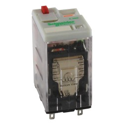Telemecanique / Schneider Electric - 792XDX3M4L-12D - 12VDC, 14-Pin Square Base General Purpose Plug-In Relay; AC Contact Rating: 3A @ 277V