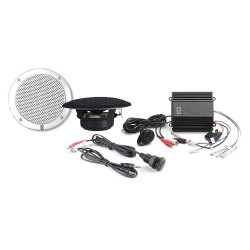 Poly-Planar - MP3-KIT-A - Amplifier with 1 Inputs, White&#x3b; Includes Speakers and 3.5mm Plug
