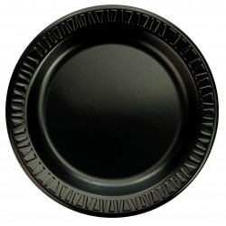 Dart Container - 9PBQR - 9 Round Disposable Plate, Black; PK500