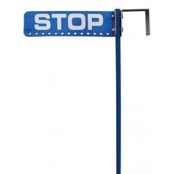 K&E Railhead - KE-110B - Safety Sign, w/Hanging Blue Flag