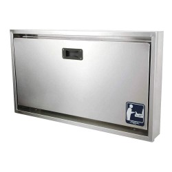 Foundations - 100-SSC-R - Baby Changing Station, Horizontal, Recessed Mount, Stainless Steel/Polyethylene