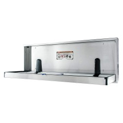 Foundations - 100SSE-R - Special Needs Changing Station, Horizontal, Recessed Mount, Stainless Steel