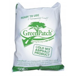 Greenpatch - GP50 - Black Cold Patch, 50 lb. Bag, Coverage: 9 sq. ft.