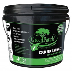 Greenpatch - GP40P - Black Pavement Repair Patch, 40 lb. Pail, Coverage: 9 sq. ft.