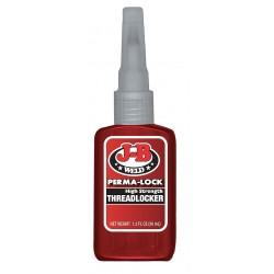 J-B Weld - 27136 - Perma-Lock Series High-Strength Threadlocker, Red Liquid, 36mL Bottle