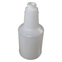 Impact - 5024WG - Impact Products 24oz. Plastic Bottle with Graduations - 1.50 lb - Plastic, Polyethylene - Natural