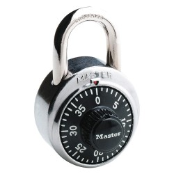 Master Lock - 1502 - Combination Padlock, Not Resettable Center-Dial Location, 3/4 Shackle Height