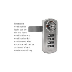 Salsbury Industries - 33395SLV - Built In Locker Lock, Key Control: Mfr. No. 33396, White for Lift Handle, Turn Handle, and Single Po