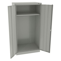 Tennsco - 1481LG - Storage Cabinet, Light Gray, 72 Overall Height, Unassembled
