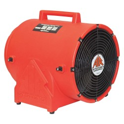 Air Systems - CVF-12AC - Axial Portable Fan, 1 HP, 115VAC Voltage, 3350 rpm Blower/Fan Speed