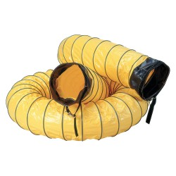 Air Systems - SVH-1225 - 25 ft. Air Duct with 12 Dia., Yellow; Use With 12 Fans