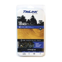 TriLink Saw Chain - CL15062X2TL2 - Replacement Saw Chain, 18inL, 62 Links, PK2
