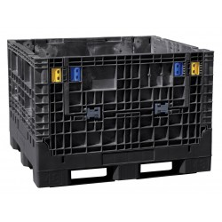 Buckhorn / Myers Industries - BN4845252010000 - Collapsible Bulk Container, Black, 25H x 48L x 45W, 1EA