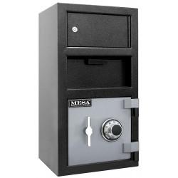 Mesa Safe - MFL2014CK - Cash Depository Safe, 1.5 cu. ft., 100 lb., Two Tone Black Gray