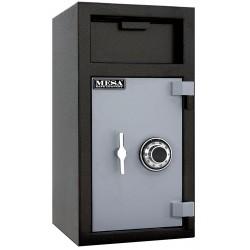 Mesa Safe - MFL2714C - Cash Depository Safe, 1.4 cu. ft., 110 lb., Two Tone Black Gray