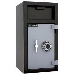 Mesa Safe - MFL2714CILK - Cash Depository Safe, 1.3 cu. ft., 120 lb., Two Tone Black Gray