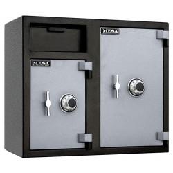 Mesa Safe - MFL2731CC - Cash Depository Safe, 6.7 cu. ft., 247 lb., Two Tone Black Gray