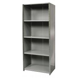 Hallowell - F7720-18HG - 48 x 18 x 87 Freestanding Steel Shelving Unit, Gray