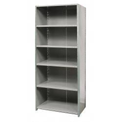 Hallowell - F7721-18HG - 48 x 18 x 87 Freestanding Steel Shelving Unit, Gray