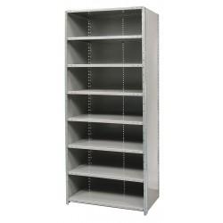 Hallowell - F7723-12HG - 48 x 12 x 87 Freestanding Steel Shelving Unit, Gray
