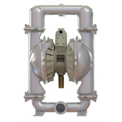 Standard Pump - SPFP10PPS - 316 Stainless Steel Santoprene Single Double Diaphragm Pump, 46 gpm, 100 psi