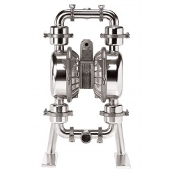 Standard Pump - SPSN15NPS - 316 Stainless Steel Santoprene Single Double Diaphragm Pump, 86 gpm, 120 psi