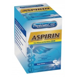 PhysiciansCare - 54034G - Aspirin, Tablet, 125 x 2 Count, 125 PK