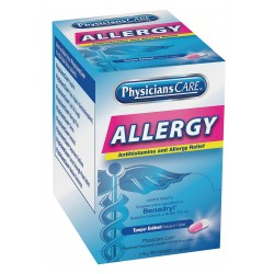 PhysiciansCare - 90036G - Sinus and Allergy, Tablet, 50 x 1, Regular Strength, 50 PK