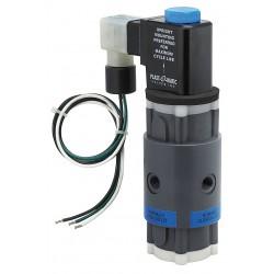 Plast-O-Matic Valves - THP4V6W24-PV - PVC Solenoid Valve, 3-Way/2-Position Valve Design, Universal