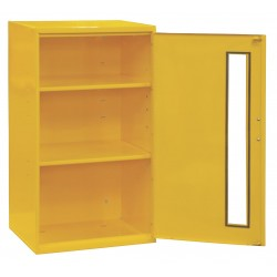 Durham - 057-50 - Yellow Storage Cabinet, 32-1/4 Overall Height, 19-7/8 Overall Width, Number of Shelves 2